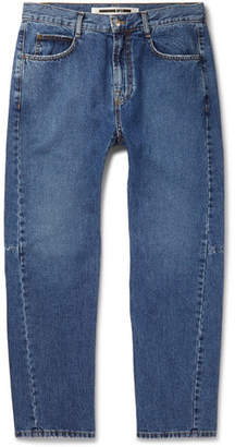 McQ Tapered Panelled Denim Jeans