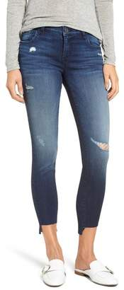 KUT from the Kloth Connie Step Hem Skinny Jeans (Clean) (Regular & Petite)