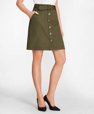 Brooks Brothers (ブルックス ブラザーズ) - Red Fleece ストレッチコットンツイル フロントオープンスカート