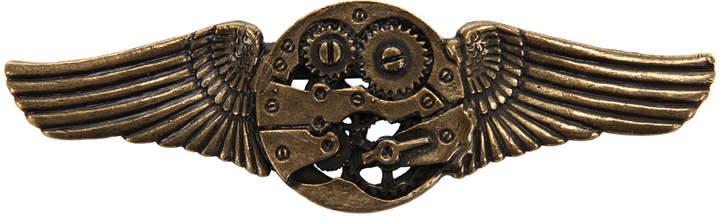 Antique Gear Wings Pin