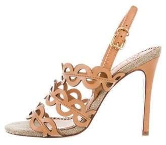 Tory Burch Laser Cut Slingback Sandals