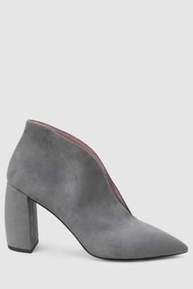 00e2ba94ead4 Next Womens Grey Banana Heel Shoe Boots