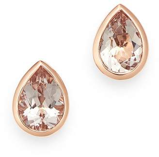 Bloomingdale's Morganite Pear Shaped Bezel Set Stud Earrings in 14K Rose Gold - 100% Exclusive