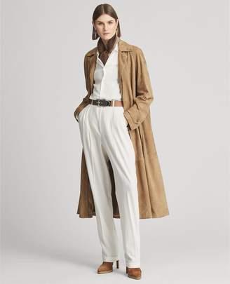Ralph Lauren Rowen Suede Equestrian Coat