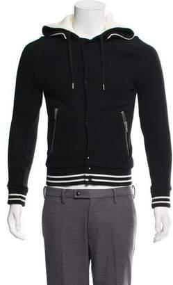 The Kooples Sport Woven Zip-Up Sweatshirt