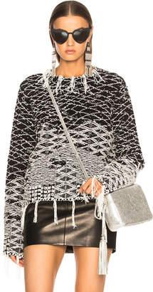 Saint Laurent Cropped Jacquard Sweater