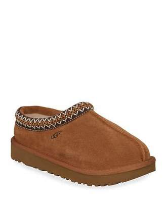 UGG Tasman Suede Fur-Lined Slippers