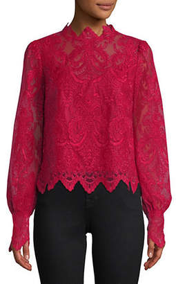Saylor Norma Long-Sleeve Lace Blouse