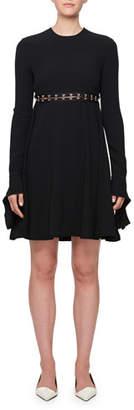 Proenza Schouler Long-Sleeve Hook Cutout Dress