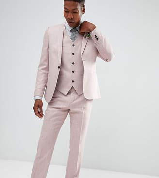 Noak Slim Wedding Suit Pants In Crosshatch