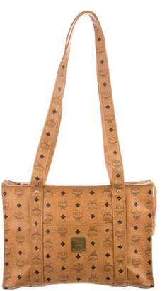 MCM Visetos Leather Tote