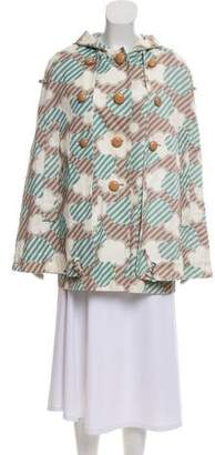 Cacharel Printed Hooded Cape