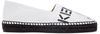 Kenzo White Canvas Logo Espadrilles $180 thestylecure.com