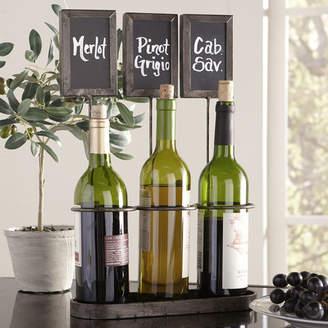 Birch Lane Chalkboard 3 Bottle Tabletop Wine Rack