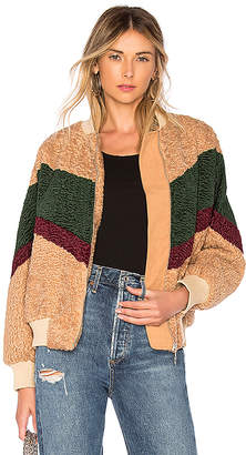 J.o.a. Colorblock Teddy Faux Fur Jacket