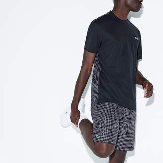 Lacoste Men's SPORT Net Print Taffeta Tennis Shorts