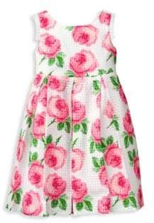 Janie and Jack Baby's, Toddler's, Little Girl's& Girl's Rose Print Dress