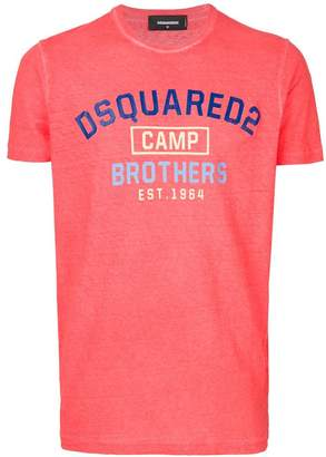 DSQUARED2 Camp Brothers print T-shirt