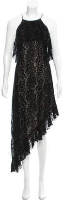 Alice + Olivia Patterned Halter Dress