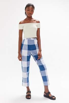 Urban Renewal Vintage Remnants Blown Out Gingham Trouser Pant