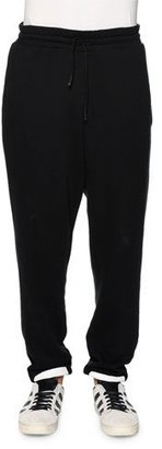 Off-White Brushed-Stripes Drawstring Sweatpants, Black/White $480 thestylecure.com