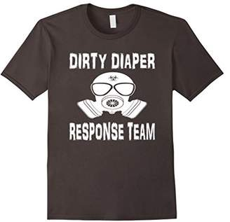 Dirty Diaper Response Bio-hazard Funny T-Shirt Tee