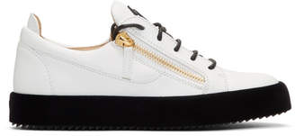 Giuseppe Zanotti White Velvet Sole May London Sneakers
