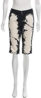 CNC Costume National Tie-Dye Knee-Length Shorts