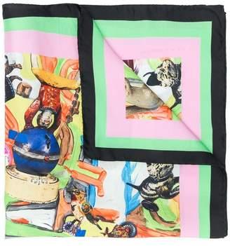 Marni City printed neck scarf