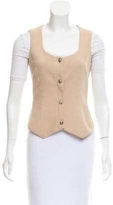 Versace Scoop Neck Button-Up Vest