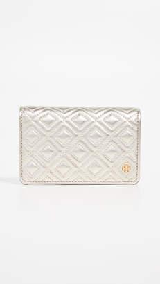 Tory Burch Fleming Metallic Slim Medium Wallet