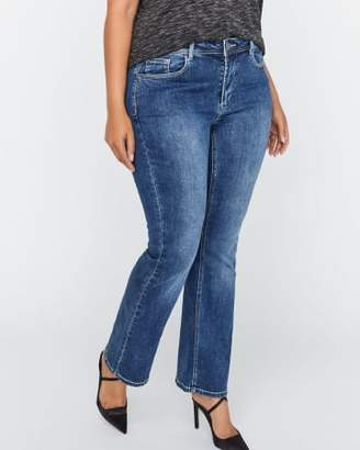 Addition Elle Authentic Barely Bootcut Medium-Wash Jean - L&L