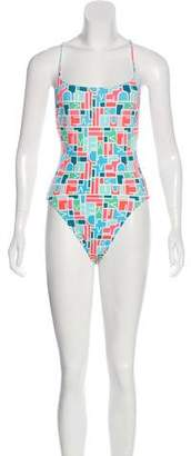 Diane von Furstenberg Printed Sleeveless Swimsuit