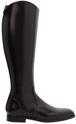 Pre-owned - Leather riding boots Lanvin 8Y762CycHA