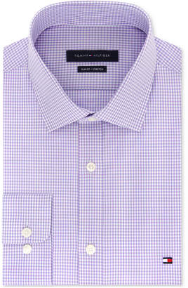 Tommy Hilfiger Men Slim-Fit Stretch Check Dress Shirt, Online Exclusive