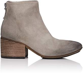 Marsèll Women's Back-Zip Distressed Suede Ankle Boots
