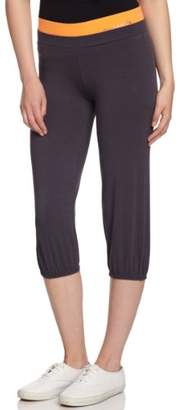 Double Band Cropped Womens Trousers Pineapple YOgkOnF09