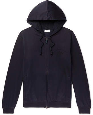Brioni Fleece-Back Stretch-Cotton And Cashmere-Blend Jersey Zip-Up Hoodie