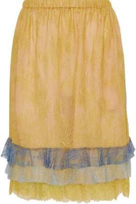 720782971 Philosophy di Lorenzo Serafini Tiered Chantilly Lace Skirt