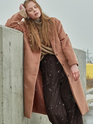 Single Wool Coat[camel] $189 thestylecure.com