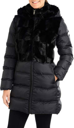Rachel Roy Quilted Faux-Fur Hooded Puffer Jacket
