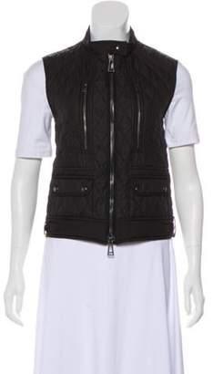 Belstaff Quilted Collarless Vest Black Quilted Collarless Vest