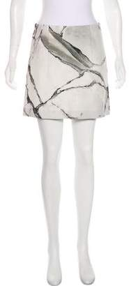 Robert Rodriguez Marble Mini Skirt