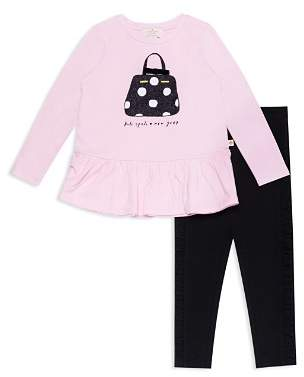 Kate Spade Girls' Dot Handbag Graphic Top & Legging Set - Baby