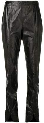 Courreges slit leg cropped trousers