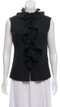 Tome Sleeveless Button-Up Blouse