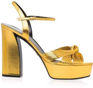 Gucci Gold Knot Sandals