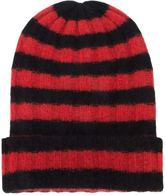 The Elder Statesman striped cashmere beanie