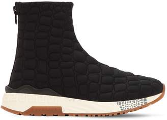 Versace Quilted Nylon Padded Sock Sneakers
