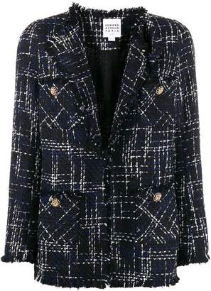 Edward Achour Paris fitted tweed blazer